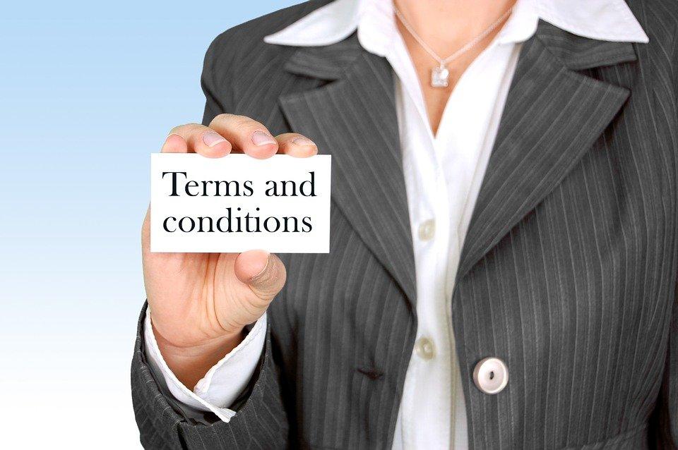 Bedingungen, Konditionen, Frist, Vertragsbedingungen