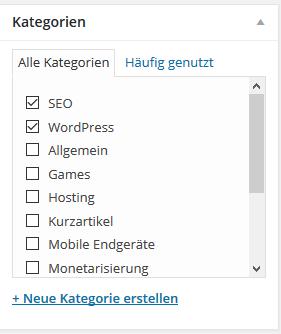 Content Kategorien
