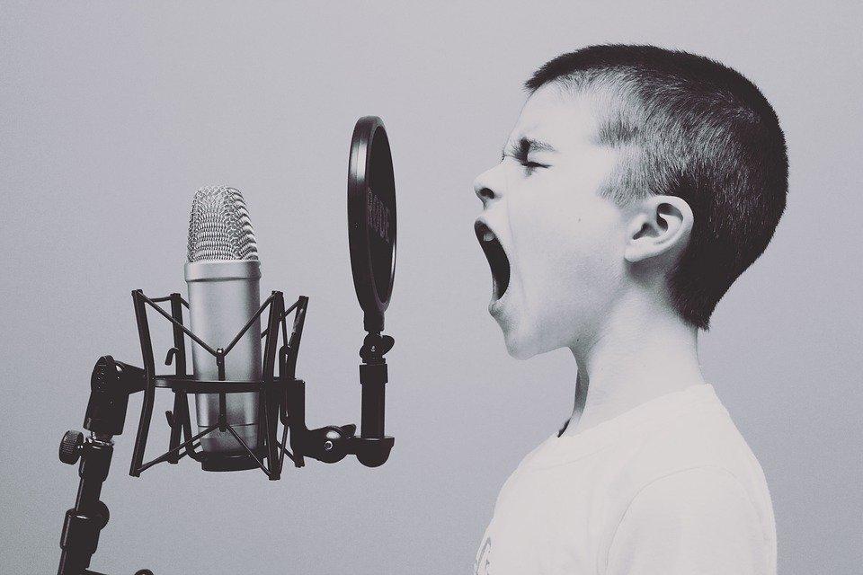 Mikrofon, Junge, Studio, Schreiend, Schreien, Singen