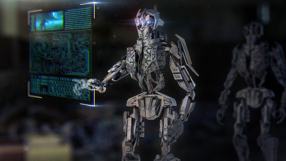 Roboter, Mech, Maschine, Technologie, Städtischen, Ai