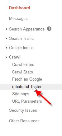robots.txt crawl