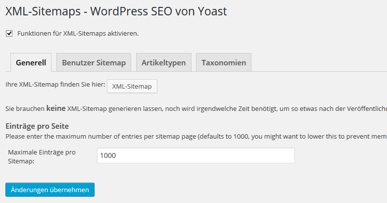 Sitemap WordPress Yoast