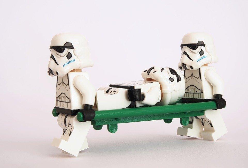 Stormtrooper, Lego, Bahre, Wurf, Kinderwagen