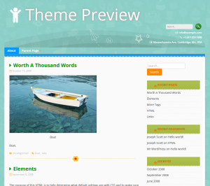 Verspieltes WordPress Thema