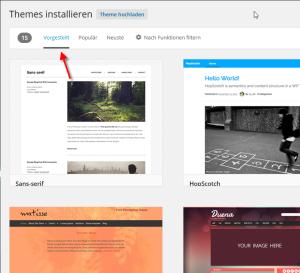 Beliebte WordPress Themes