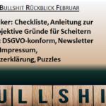 Bullshit-Rückblick Februar und Vorschau